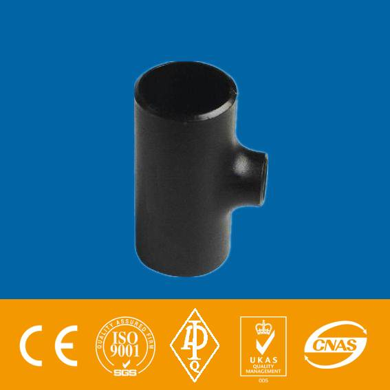 ASTM A234 WPB black paint seamless or welded reducing TEE