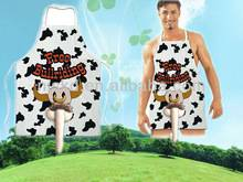 sexy penis shape cow apron