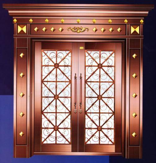 copper doors