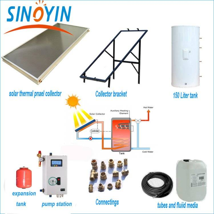 Split solar thermal water heater of 150 liter