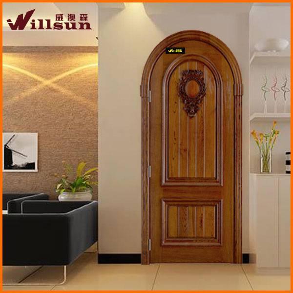 solid wood arch door