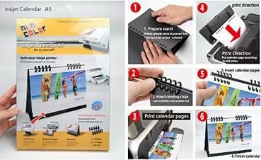 DIY Customzied Inkjet Photo Calendar (easy binding diy calendar)