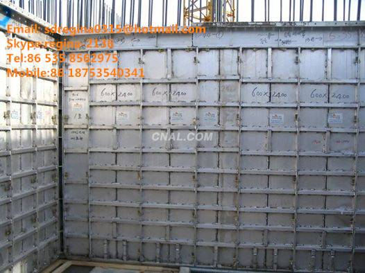 Construction aluminum formwork modular system for building