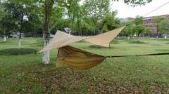selling Nylon hammock with canopy with mosquito mesh for outdoor hiking camping