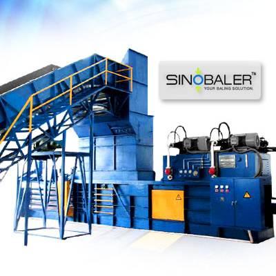 Fully Automatic Horizontal Baler, Sinobaler Hydraulic Press, Packing Machine