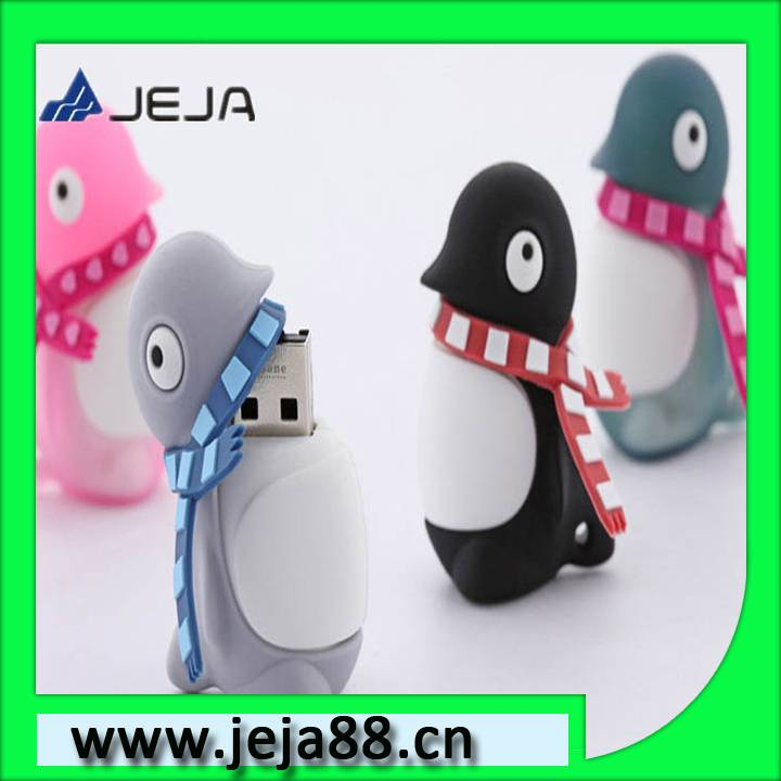 plastic usb flash with penguin shape