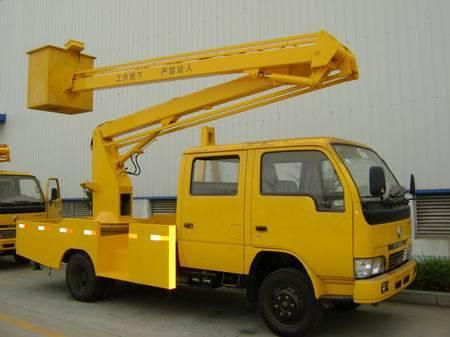 High-altitude operation truck, hydraulic aerial cage, overhead working truck, aerial work platform
