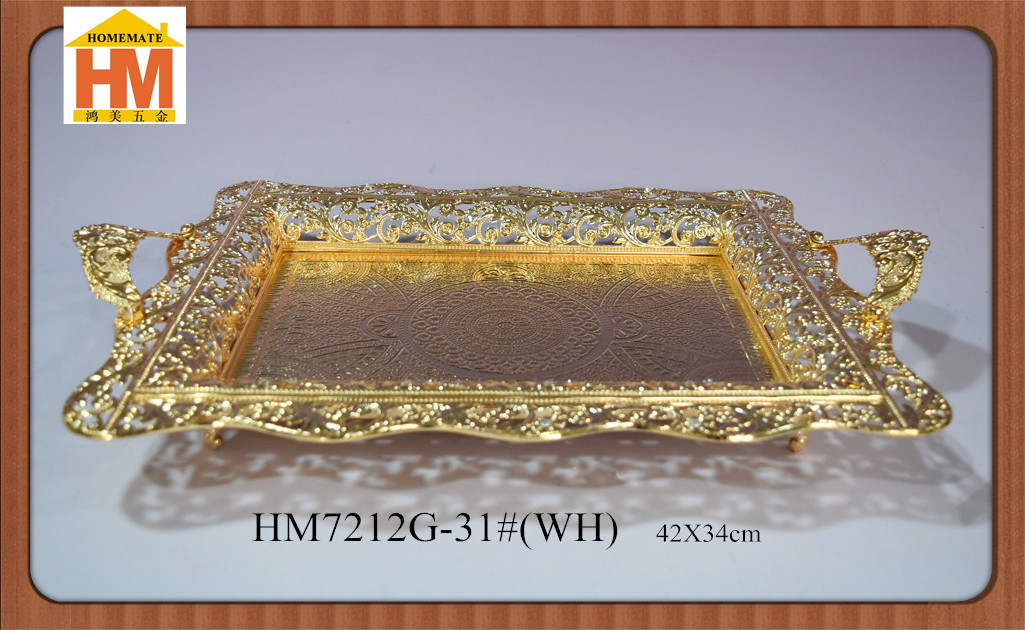 Golden iron exquiste serving tray