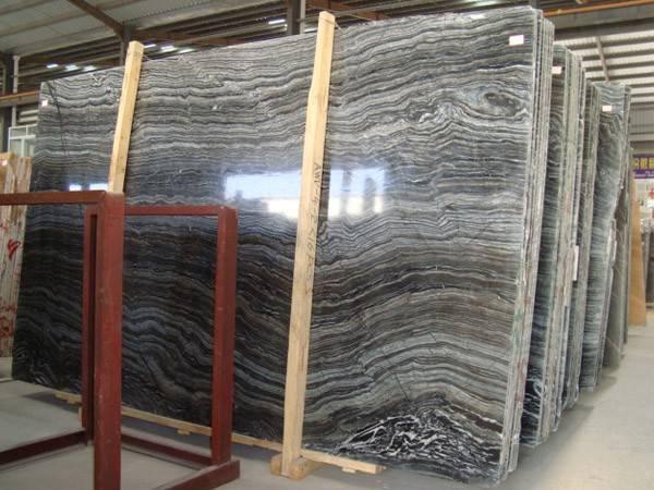 Antique wood marble slab