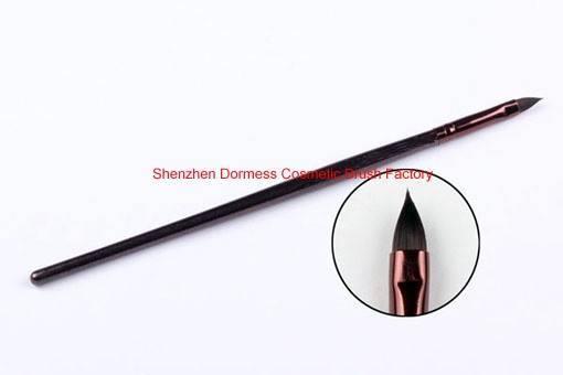 Individual Cosmetic/Makeup Lip Brush, Pony Hair, Wood Handle, Aluminium Ferrule