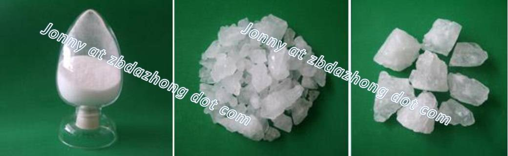Potash alum (aluminium potassium sulfate)