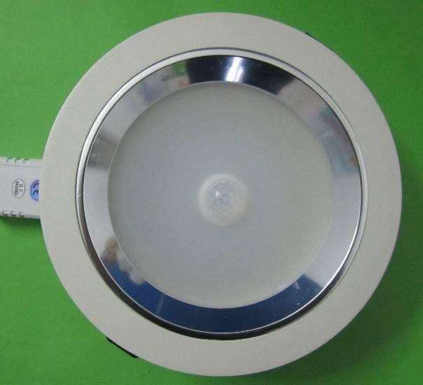 7w LED induction down light with motion sensor and dimming function energy saving