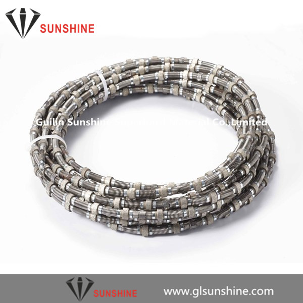 offer China 11.5mm 11mm Marble quarries dry cutting diamond wire saw