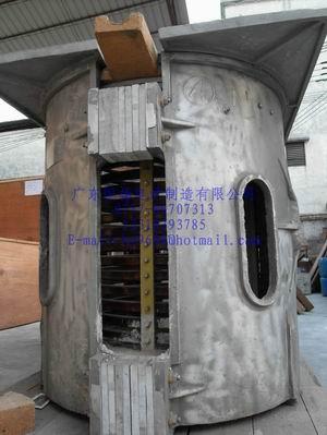 1000kg Aluminum scrap melting furnace
