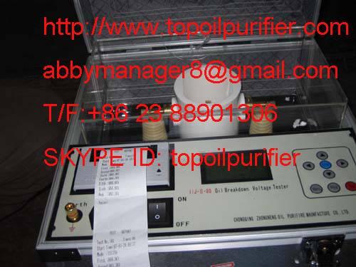 dielectric fluid breakdown strength tester/ oil analyzer