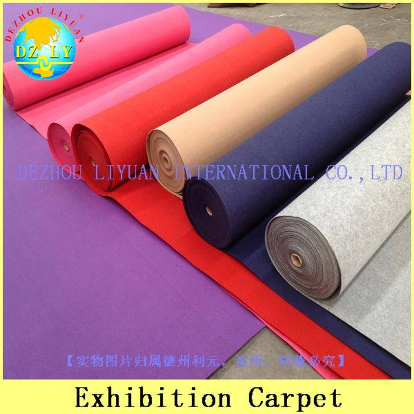 100% polyester colorful exhibition carpet