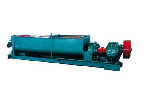 Double rolls-Horizontal mixing machine