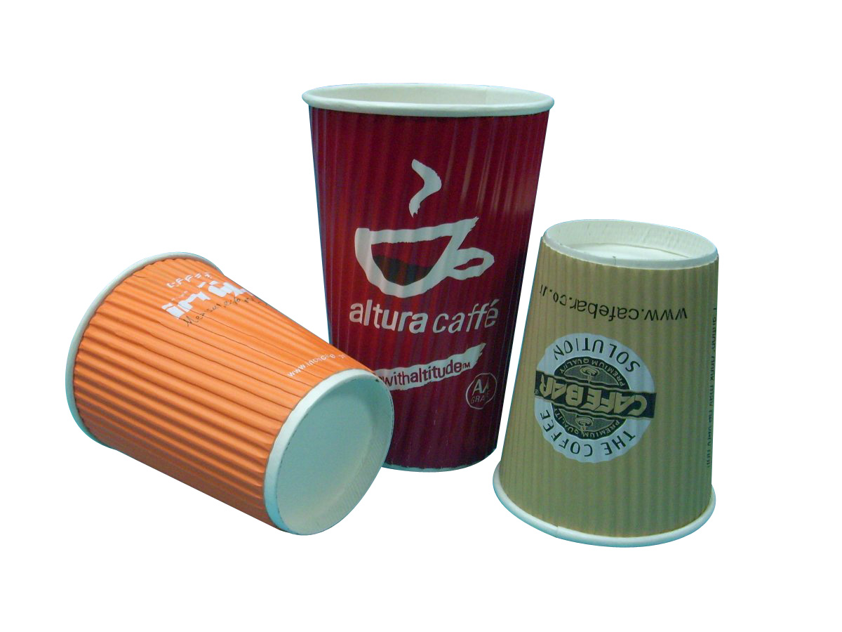 16oz Ripple Wall Printed Paper Cup for Hot coffee