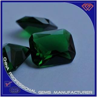 Emerald Square Shape Beautiful Glass Stone