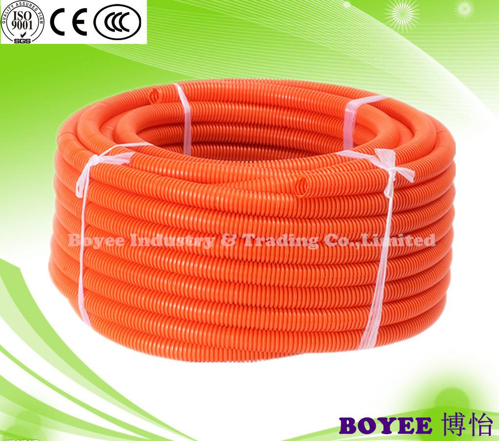 PVC Corrugated Conduit / Electrical Corrugated Conduit Pipe