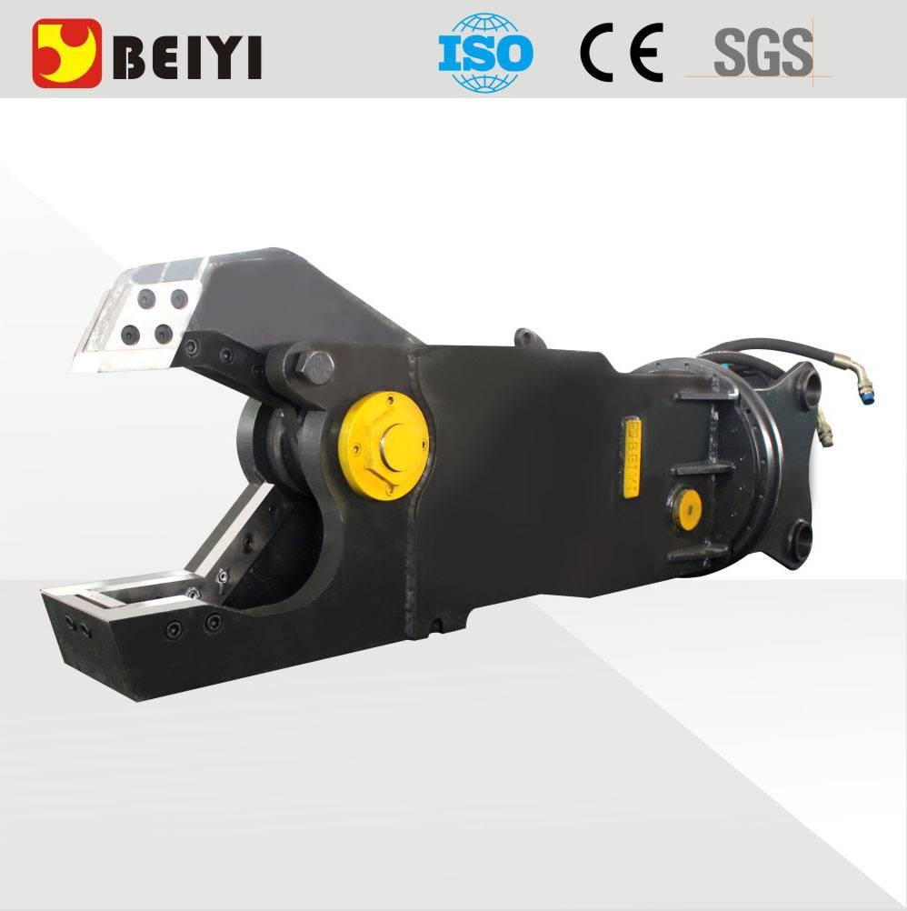 BEIYI excavator hydraulic pulverizer steel cutting shear demolition crusher for excavator