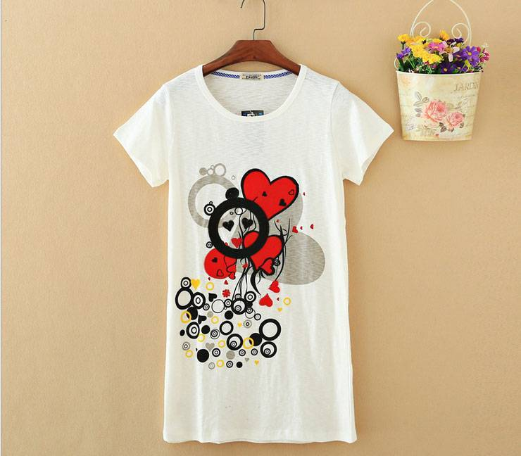 2015 New Lady Hearts Short SleeveT-Shirt