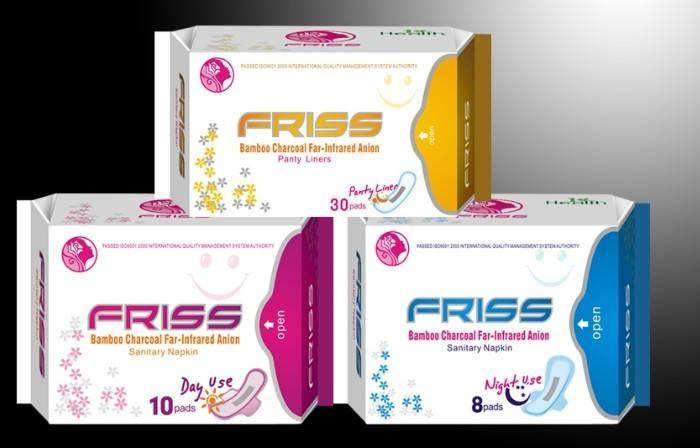 Friss brand sanitary napkin ,made in China