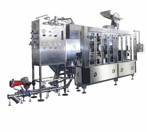 2-in-1 filler crown capper monobloc beer filling bottling machine