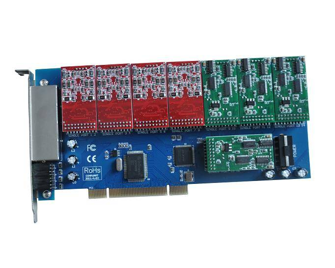 Perfect design 16 ports analog telephony card for asterisk