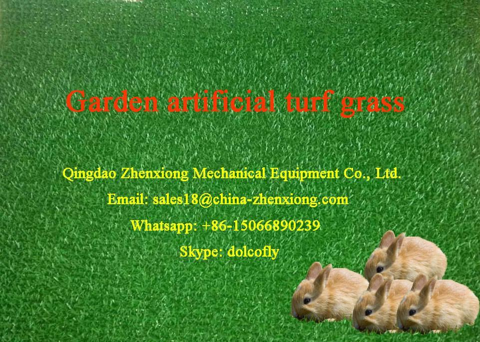 Artificial grass machinery