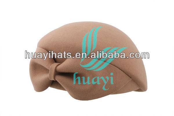 High quality ladies fashion camel wool felt beret hats for cheap sale