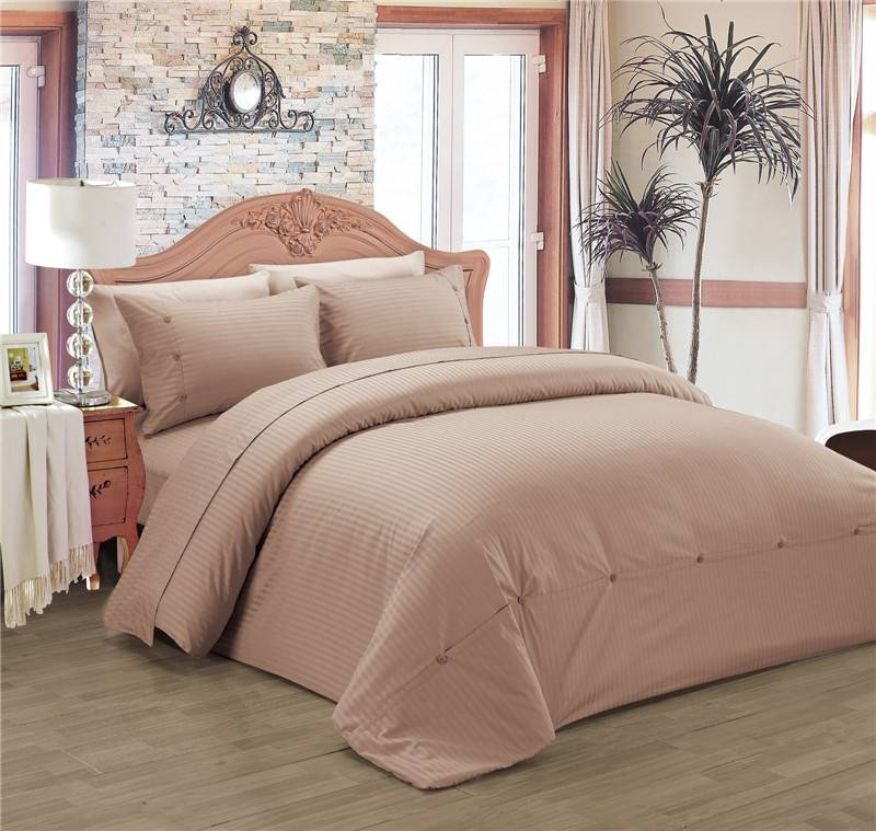 Selling Solid Color Polyester Cotton Duvet Cover Set