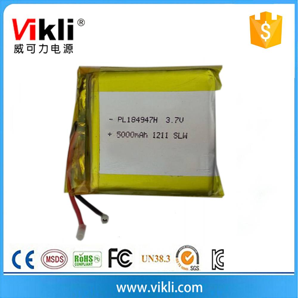 Customized lithium prismatic rechargeable battery 3.7V