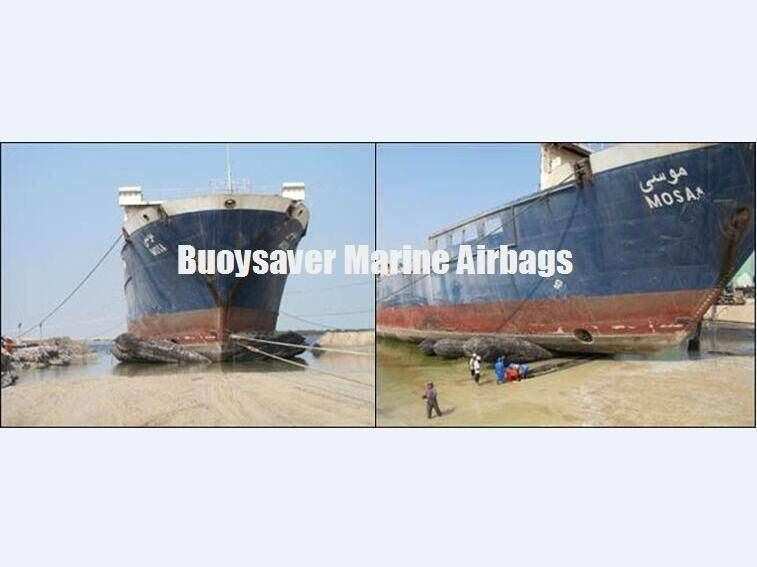 Ro-Ro Ship Drydocking by Marine Rubber Airbags in Dubai Shipyard