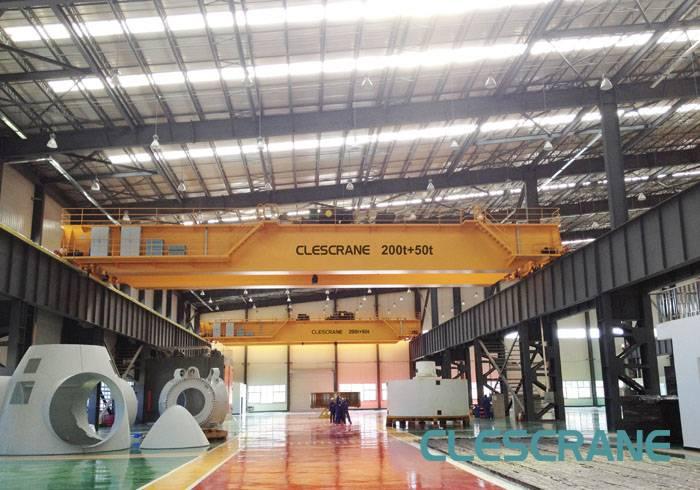 CWD Series 50t Top Running Double Girder Overhead Bridge Crane For Sale