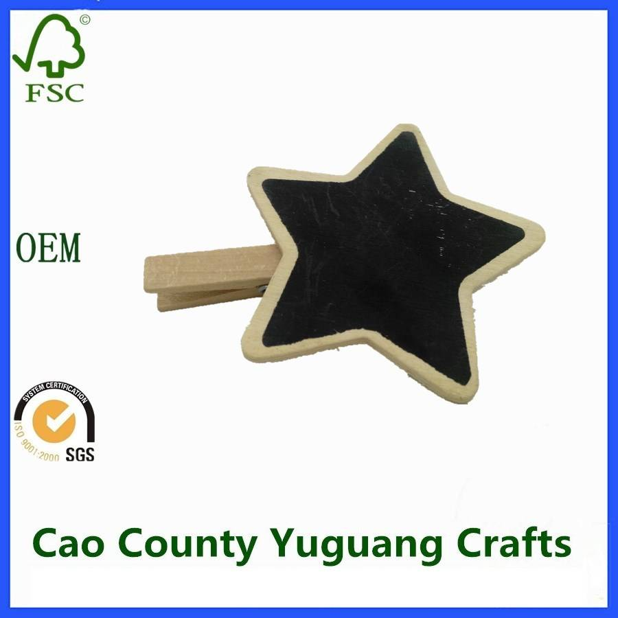 Star Shaped Decorative Wooden Clips