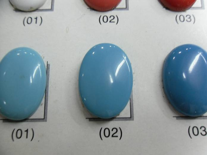 synthetic turquoise rough material
