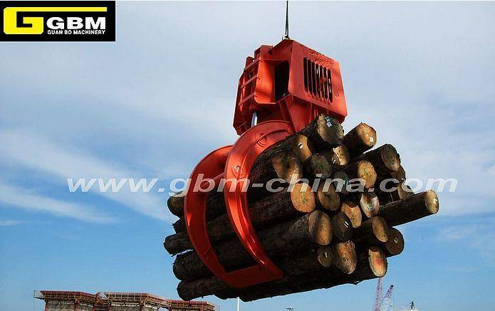 Electro-hydraulic timber grab