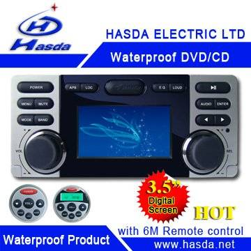 waterproof marine DVD/CD player for bathroom/golf cart