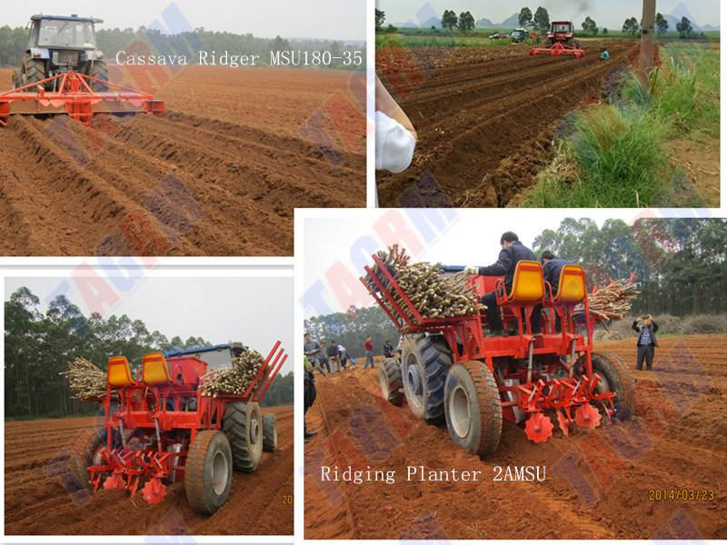 Two Rows Ridger work with Ridging Cassava Planter