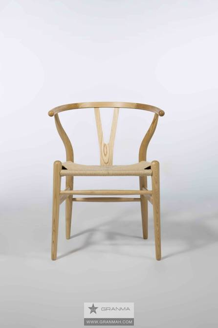 wooden wishbone chair