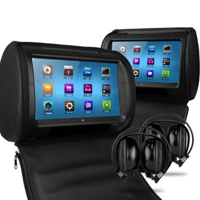 2 x 9 In Car Touch Screen Headrest DVD Players