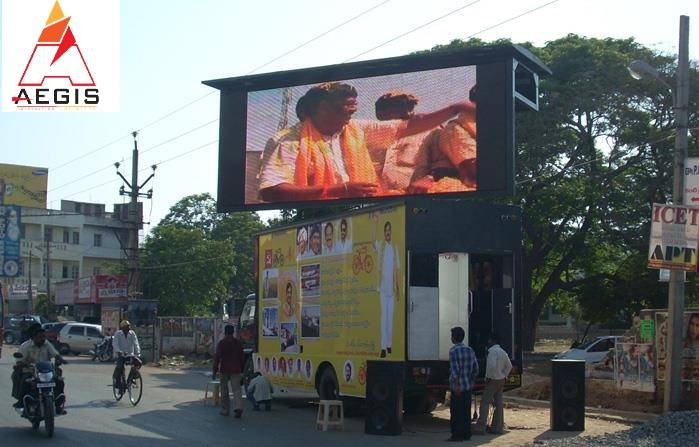 Hydraulic Led Truck , LED screen & video wall on rent / Hire in Delhi, Jaipur, Lukhnow
