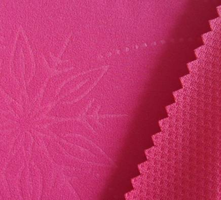 75D plain mechanical strectch embossed fabric+tpu+75D butterfly mesh