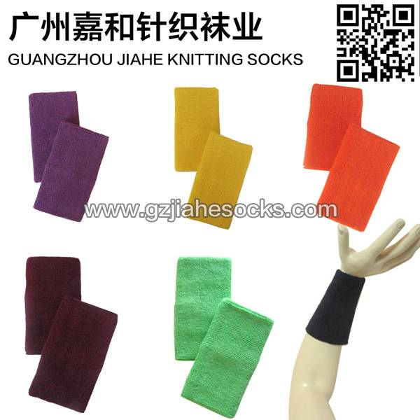 Plain sweatband set for promotion terry toweling wristbands