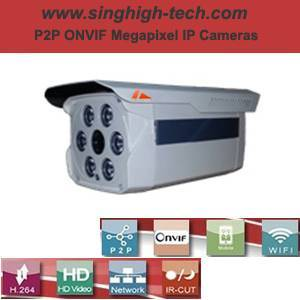 P2p Onvif 720p 1.0MP Waterproof IR IP Camera (NS6084S)