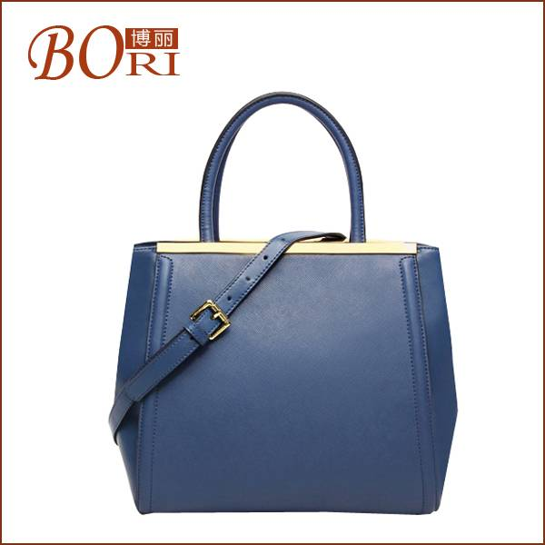 2014 simple style genuine leather handbags
