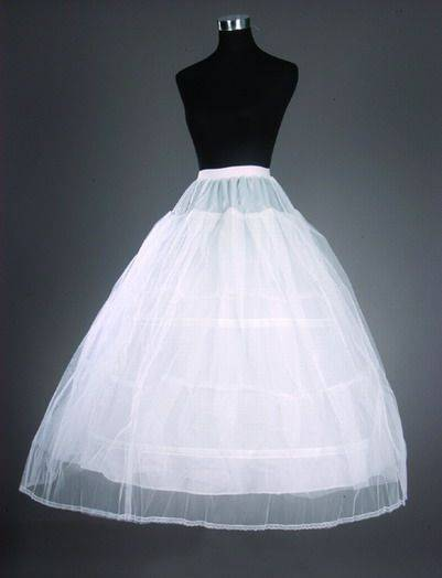 2014 Top Quality Stock White Bridal Accessories 3 Hoops 2 Layer Wedding Gown Petticoat/Underskirt