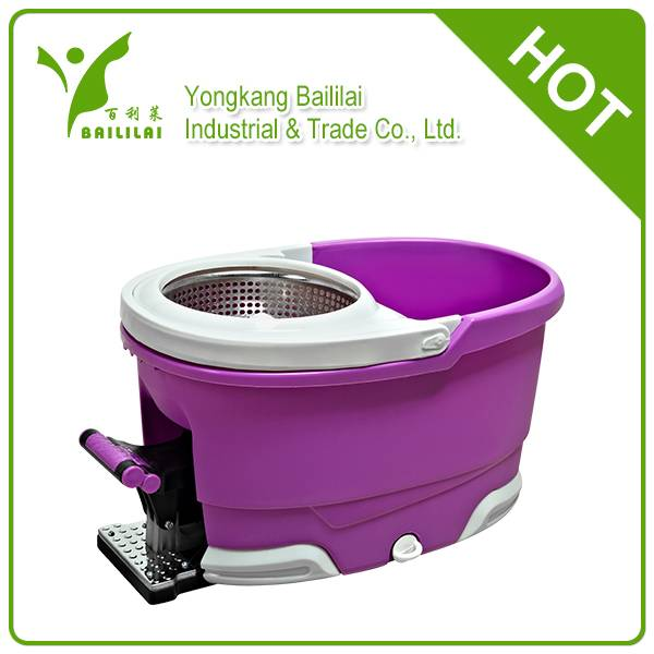 2014 spin mop with stainless steel basket