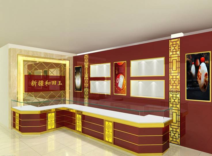 Royal wooden glass display cabinet jewelry stores furniture